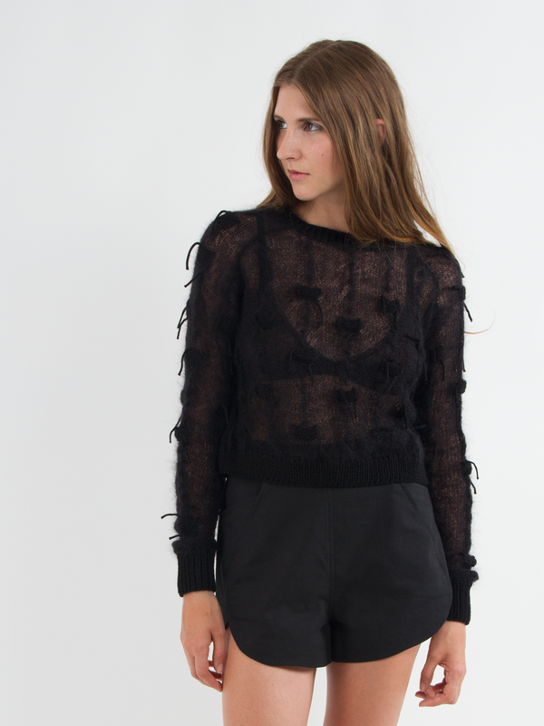 Risto Bug Stitch Crop Sweater