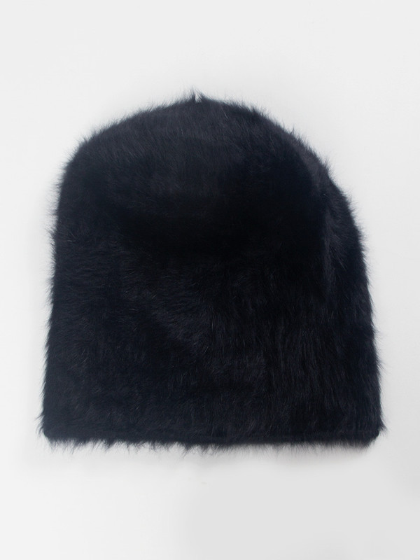 Reinhard Plank Cuffia Long Hat Black