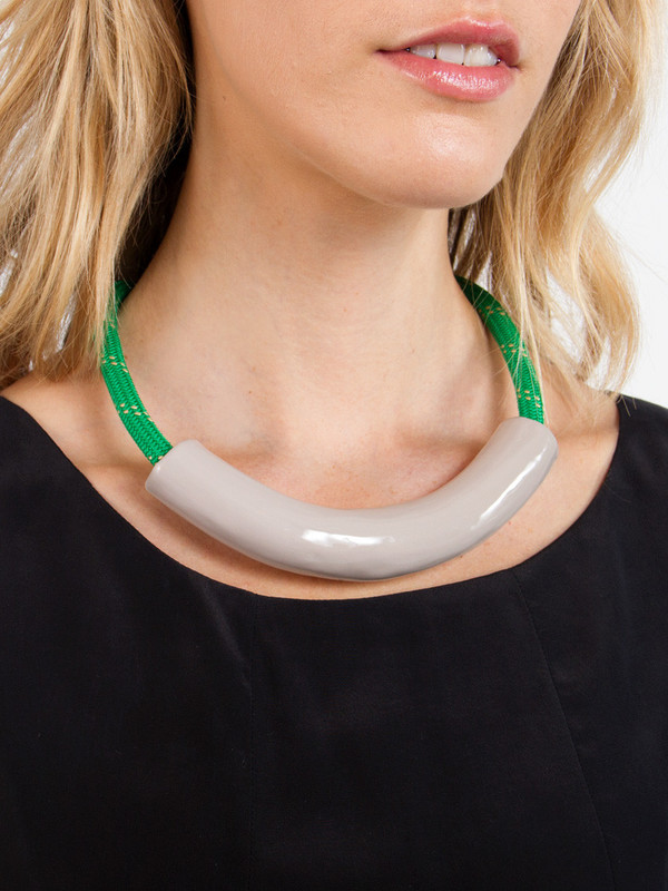 Kelly Green Rollo Necklace