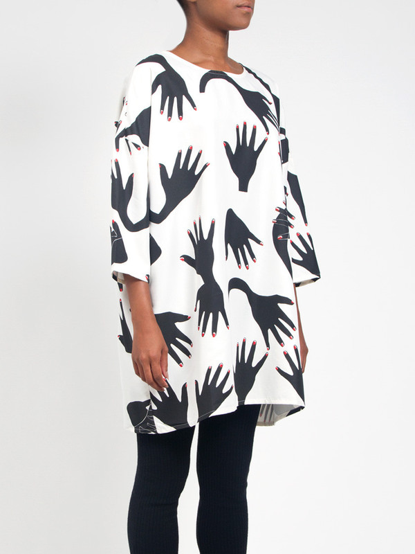 R/H Square Dress Hands Print