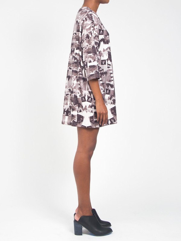 R/H Square Dress Library Print