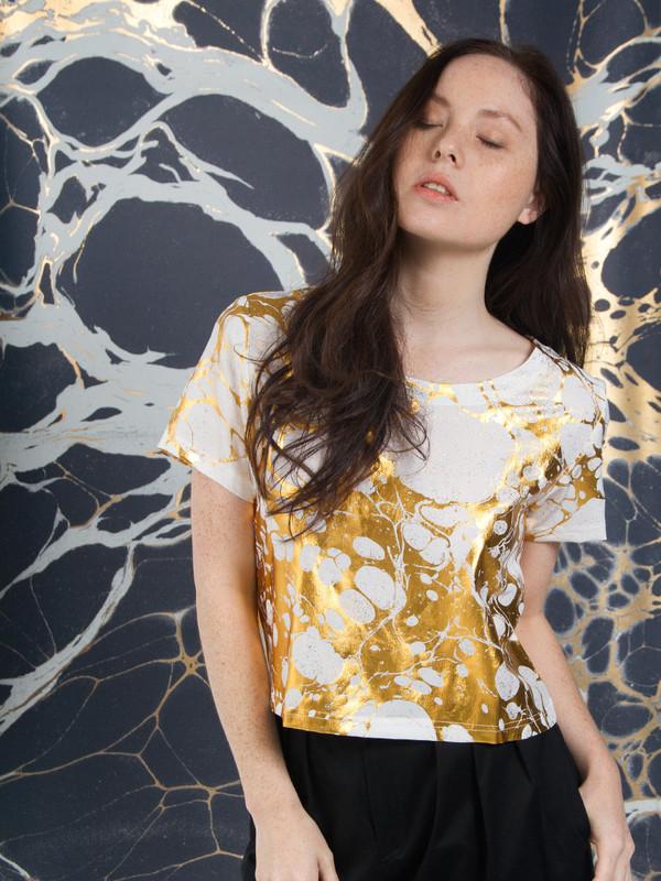 Calico x Swords-Smith x Print All Over Me Wabi Silk Tee