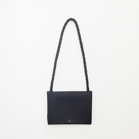 ARA Handbags - Black Fold Over Shoulder Strap Bag