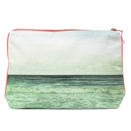 Dezso by Sara Beltran EMERALD WAVES CANVAS POUCH
