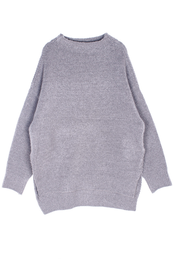 AMONG by ROCKET X LUNCH Round Oversized Knit- Grey