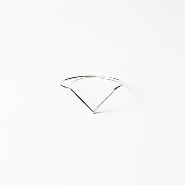 Another Feather Silver Dart Bangle