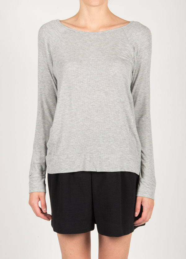 Dolan Hi-Low Raglan Long Sleeve Top