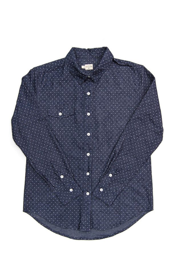 Bridge & Burn Bird Navy Polka Dot