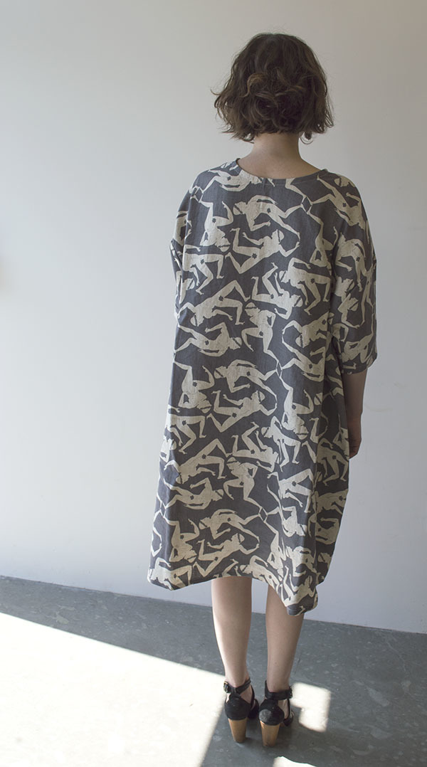 Sunja Link x Banquet Collaboration Dancing Men  Print Dress