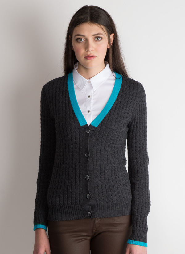 Erdaine Cable knit cardigan