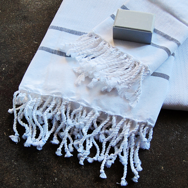 herringbone hammam towels