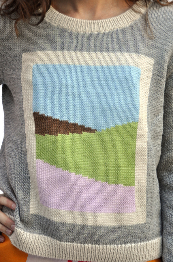 Dusen Dusen Grey Combo Frame Sweater