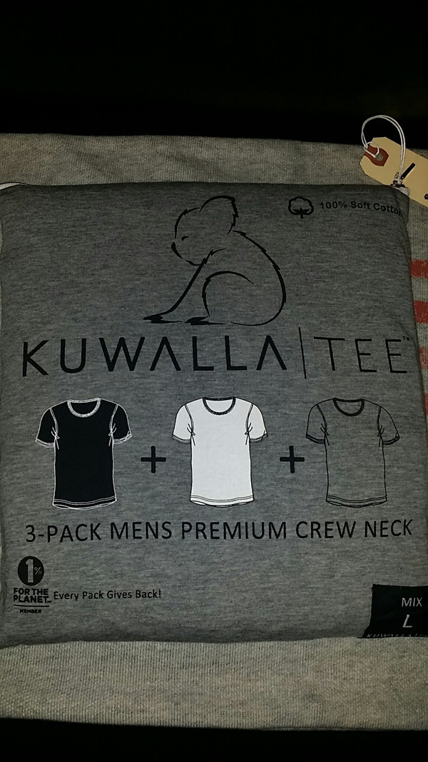 Men's KuwallaTee 3 Pack Mix Crew Neck White