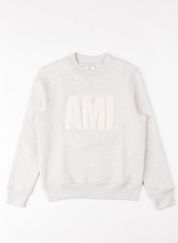 Men's AMI Alexandre Mattiusi AMI Crew Neck Sweatshirt Grege