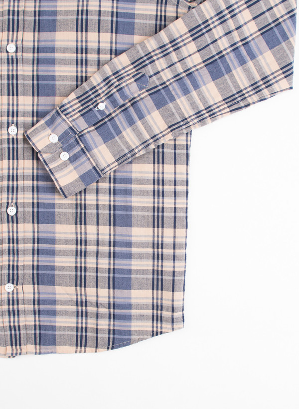 Men's Norse Projects Anton Madras Shirt Navy