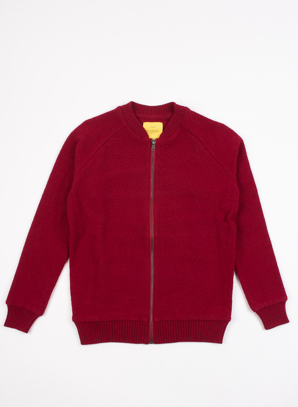 Men's Journal Boiled Cardigan Knit Biking Red