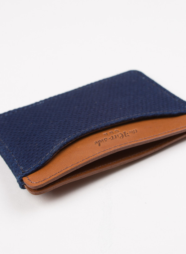 The Hill-Side Card Case Lightweight Indigo Sashiko