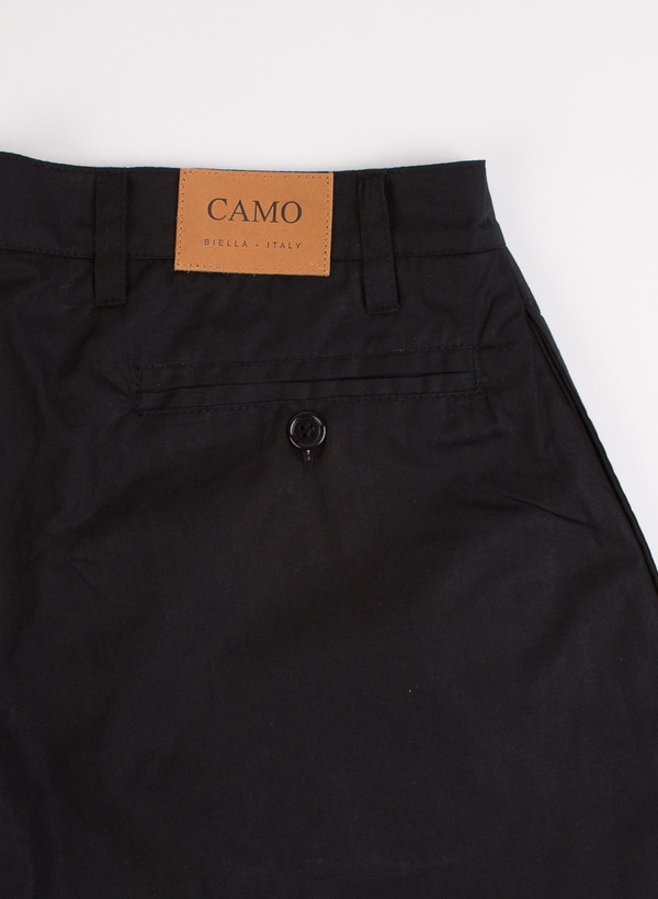 Men's Camo Fort Worth Rider Trousers Black Popeline