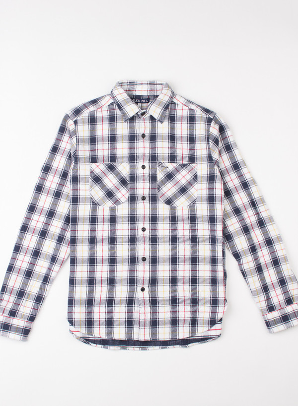 Men's Alex Mill Mack Plaid Shirt Blue/Red/Yellow