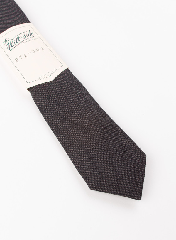 MEN'S The Hill-Side Pointed Tie Covert Hickory Stripe Black