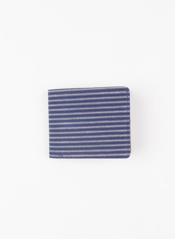 The Hill-Side Selvedge Indigo Stripe Twill Wallet