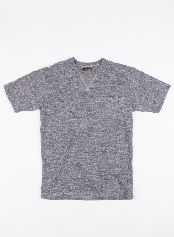 Men's National Athletic Goods V Pocket Tee Mock Twist Dark Grey