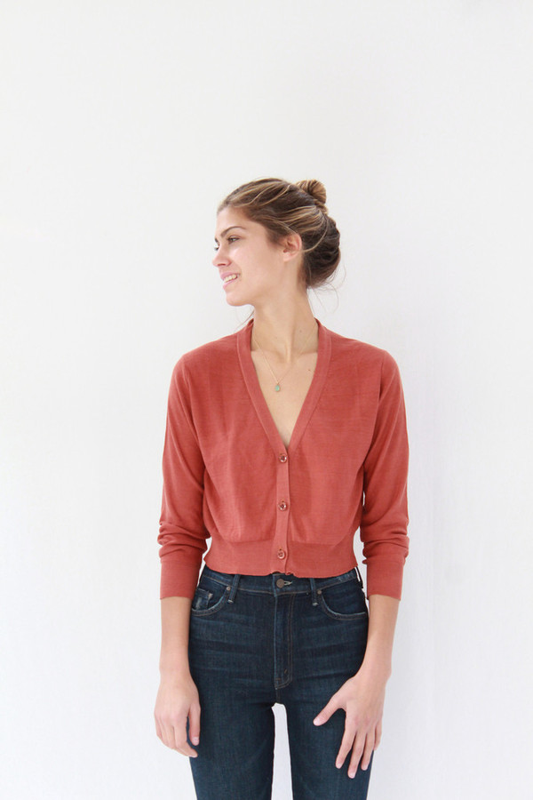 Lina Rennell Knit Cardigan Spice