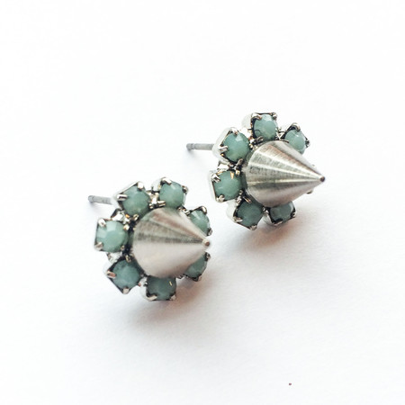 Joomi Lim Crystal Stud Earrings with Spikes