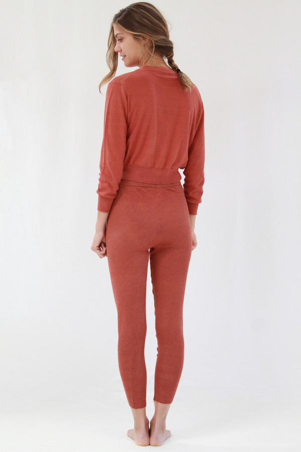 Lina Rennell Linen Knit Sweats Spice
