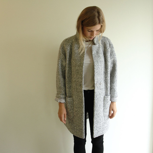 Ganni Grey Washington Coat