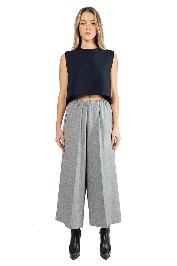 Dore Wool Pants Heather Grey