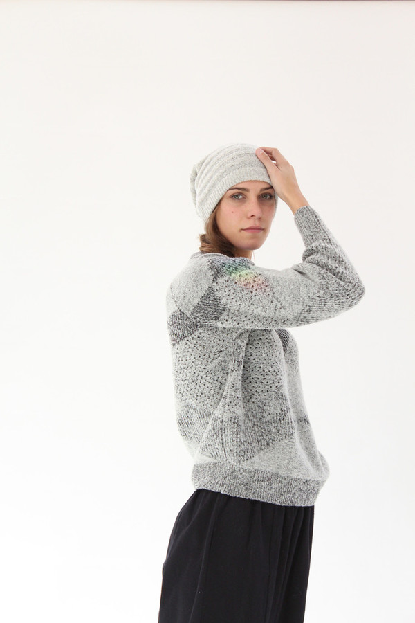 Micaela Greg Fractured Pullover Sweater