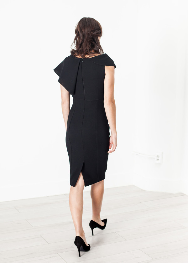 Amelia Toro Asymmetric Dress in Black