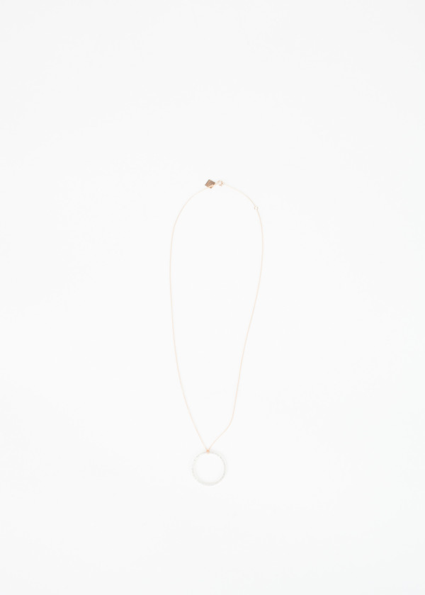 Ginette NY Baby Diamond Circle on Chain