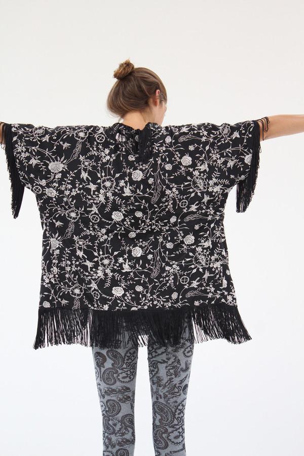 Ivana Helsinki Gram Silk Poncho