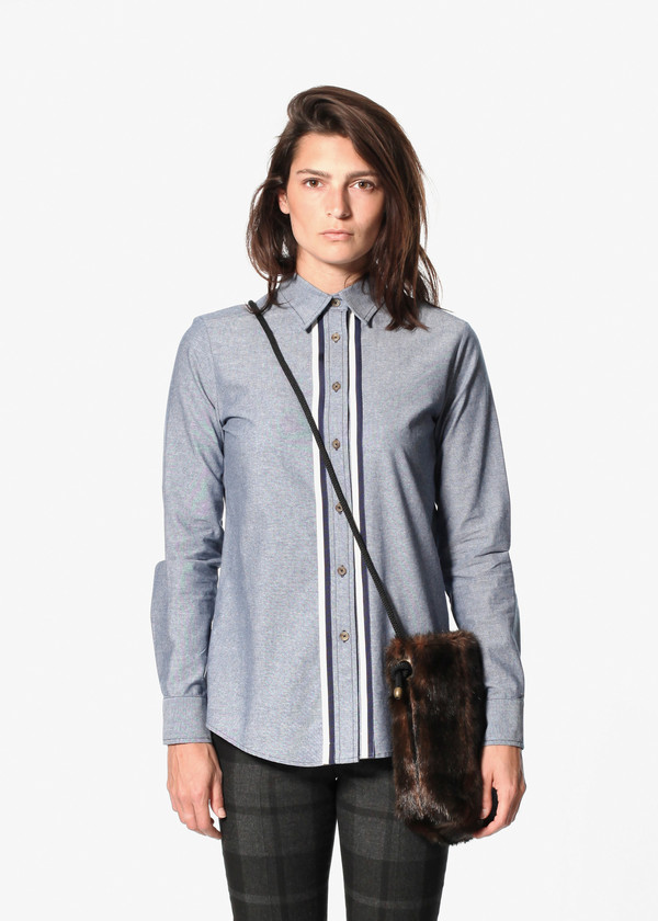 Harvey Faircloth Chambray Boyfriend Shirt