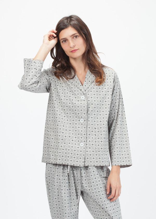 Domi Classic Print Pajama Set