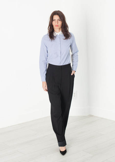 Ter et Bantine Contrast Cuff Pant in Black