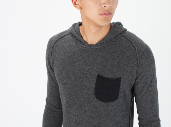 Men's Avant Toi Hooded Knit Sweatshirt