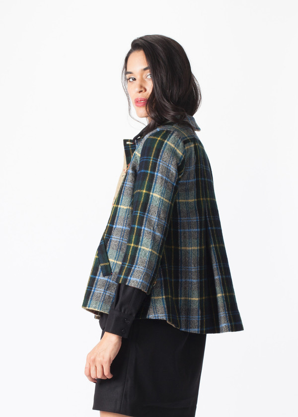 Mixed Button Jacket