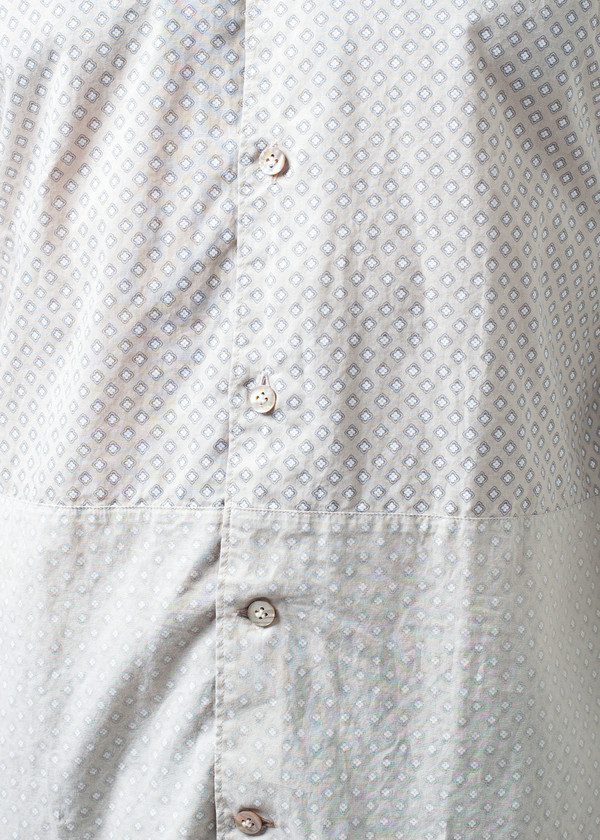 Men's DNL Patterned Button Up in Beige