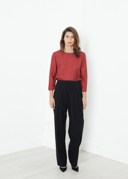 Ter et Bantine Pleated Waistband Trouser