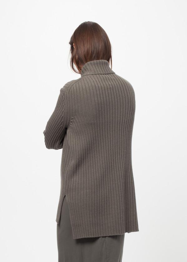 Organic by John Patrick Rib Funnel Neck Sweater
