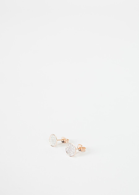 Ginette NY Round Sequin Diamond Studs