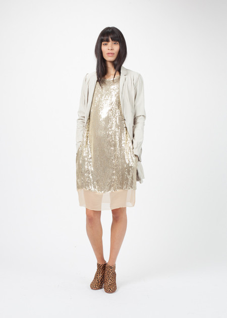 Hazel Brown Sequin Dress