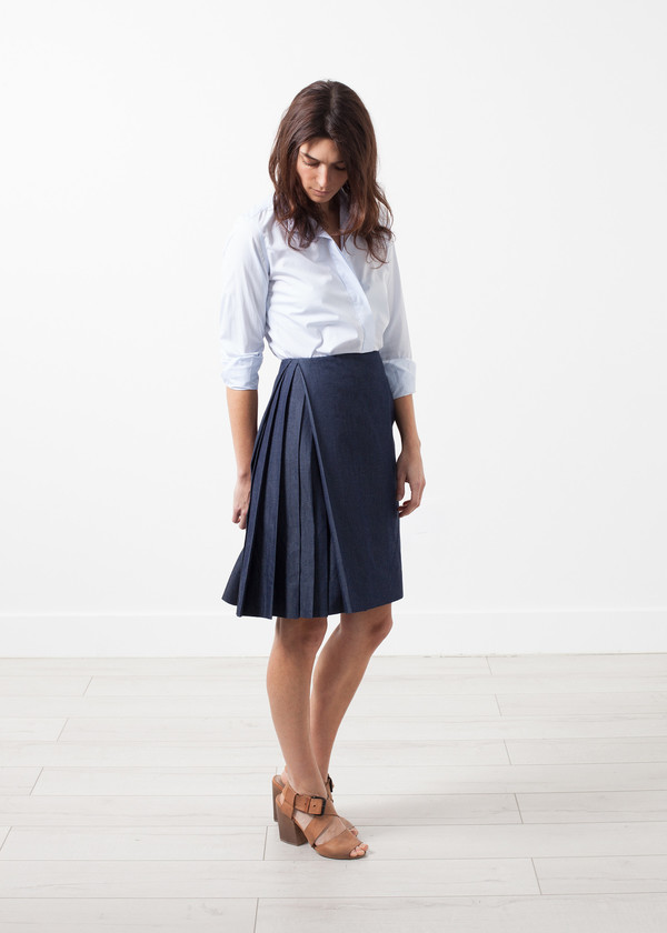 Gianfranco Scotti Side Pleat Skirt