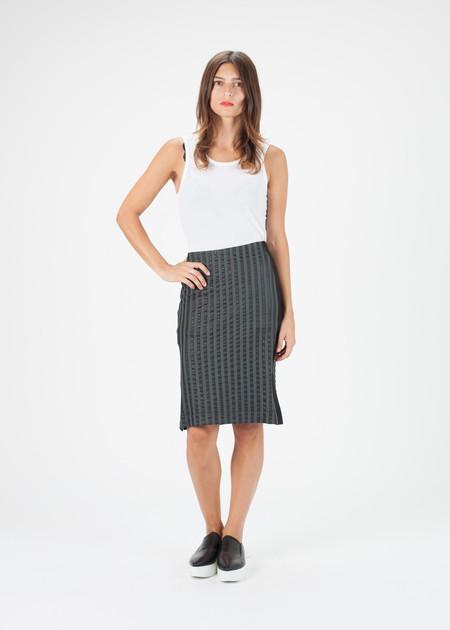 Hache Striped Skirt