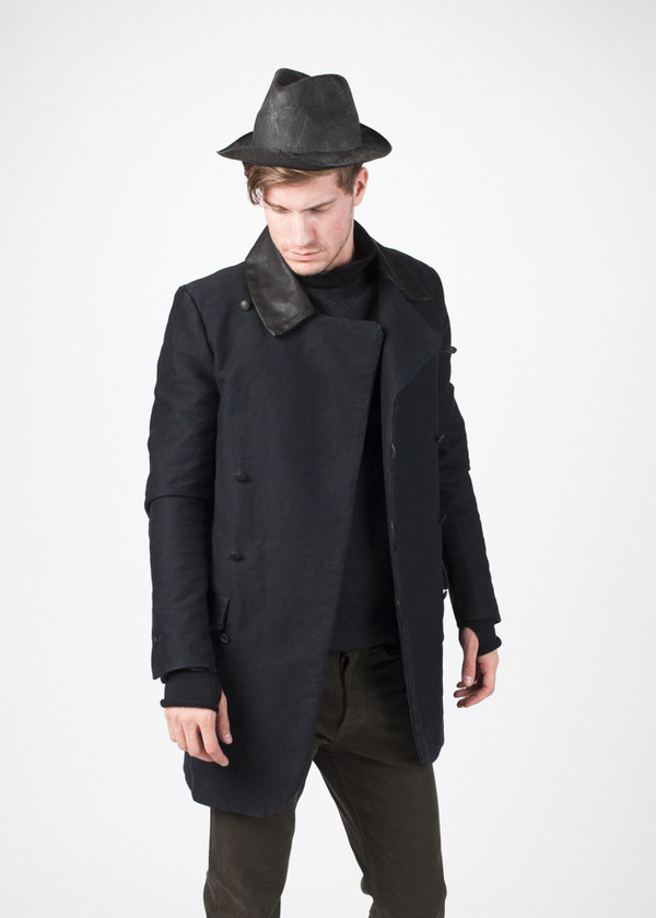 Men's Hannes Roether Taban Coat in Black