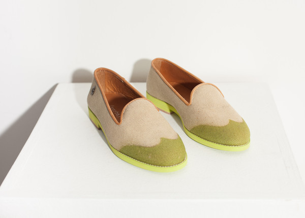 Verba Wingtip Loafer in Lime