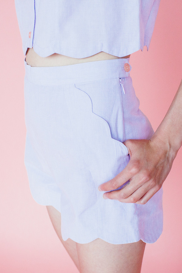 Wave shorts - lavendar